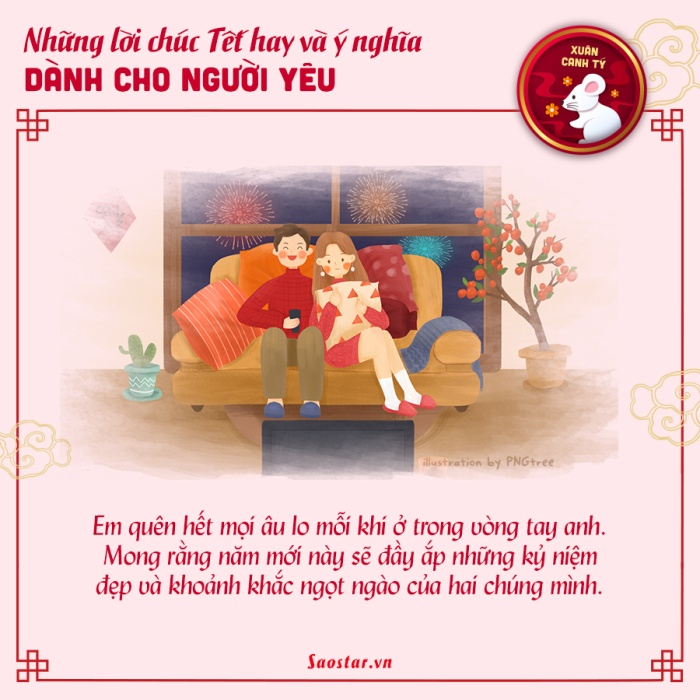 Năm mới đã đến, đừng quên gửi những lời chúc tốt đẹp nhất đến người mình yêu thương nhé!