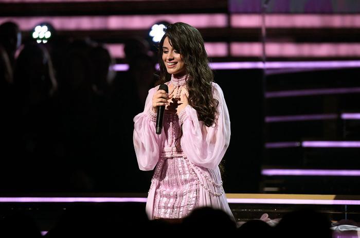 Camila dịu dàng, nữ tính trong bộ váy hồng.