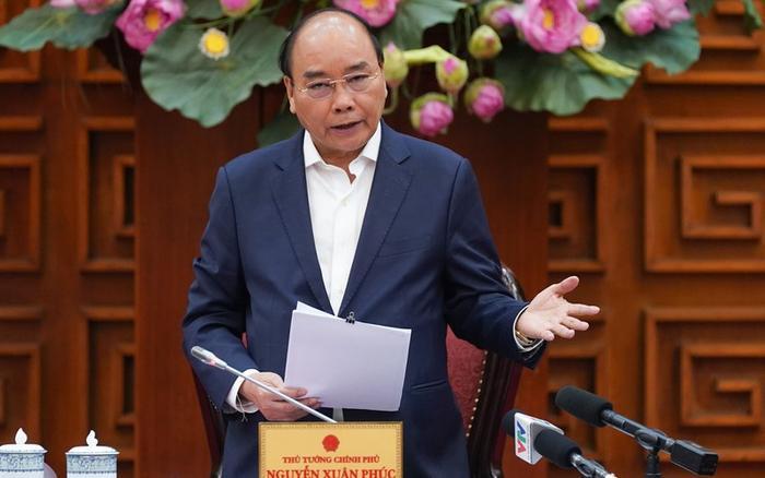 Thủ tướng Nguyễn Xuân Phúc nhấn mạnh dịch nCoV là căn bệnh nguy hiểm, chưa có vaccine, lây lan nhanh. Ảnh: VGP