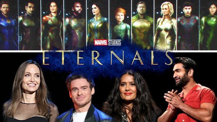 """Dàn diễn viên toàn sao của """"Eternals""""."""