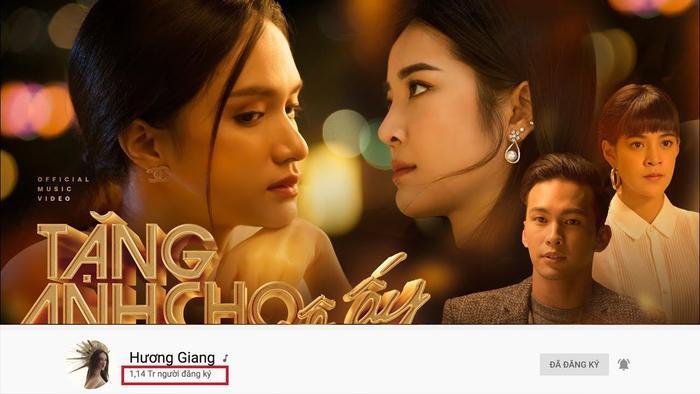 Sau đại thắng của chuỗi MV đình đám trong Vũ trụ drama – Tuesday Universe kênh YouTube của Hương Giang đạt hơn 1 triệu followers.