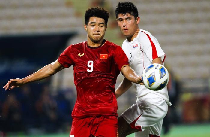 Đức Chinh thi đấu tốt trong màu áo đội U23 Việt Nam.