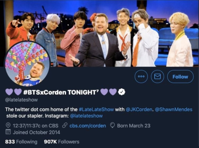 The Late Late Show with James Corden là một trong những nhân vật nổi tiếng bắt trend độc lạ này
