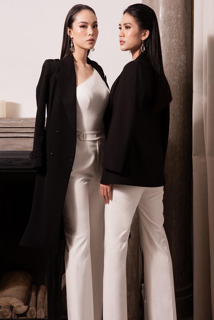 Tone màu trắng đen kinh điển luôn là cặp bài trùng của thời trang