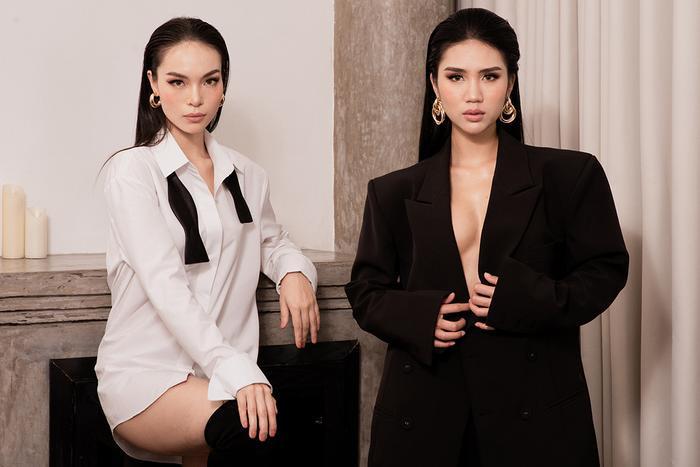 Hai chân dài Việt hở bạo trong shoot hình nghệ thuật