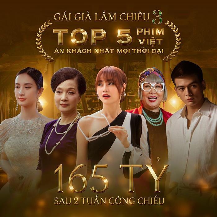 Giữa tâm bão Oscar 2020, Gái Già Lắm Chiêu 3 đạt 165 tỷ, lọt top 5 phim Việt ăn khách nhất sau hai tuần công chiếu! ảnh 1