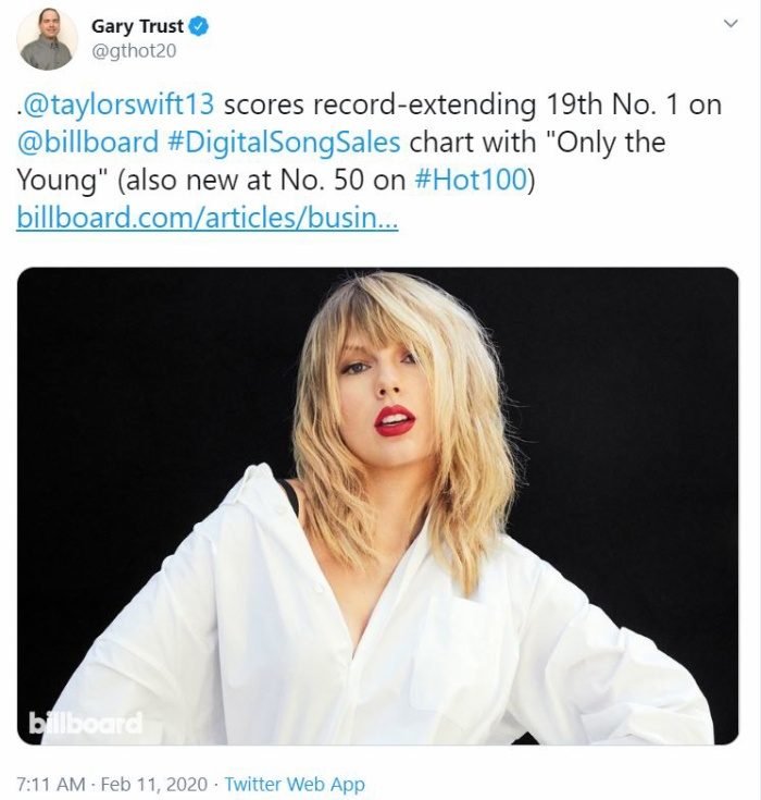Only The Young chính là ca khúc bán chạy nhất trên nền tảng kỹ thuật số trong tuần vừa qua.