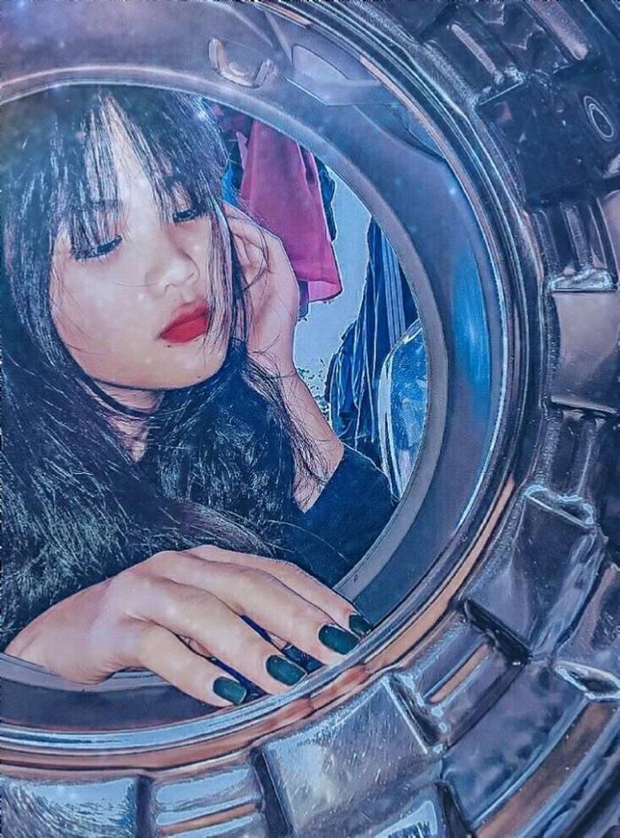 Máy giặt lồng ngang hay lồng dọc đều có thể trở thành đạo cụ sống ảo hết nhé!