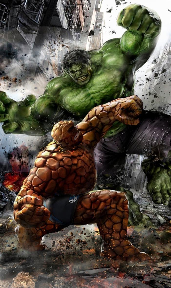 Trận đấu giữa Hulk và The Thing của nhóm Fantastic Four hứa hẹn sẽ vô cùng ấn tượng
