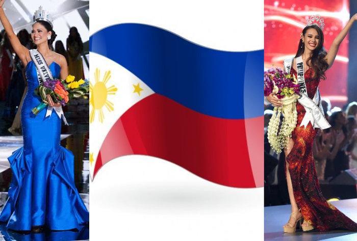 Như vậyPia Wurtzbach vàCatriona Gray đã giúp Philippines hoàn thành 2 trong 4 mảnh ghép của hình ảnh quốc kỳ. Vậy mảnh ghép thứ 3 sẽ là một trong hai sắc trắng hoặc vàng.