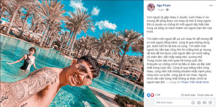 Bài viết của Mina Phạm gửi chồng vào dịp Valentine