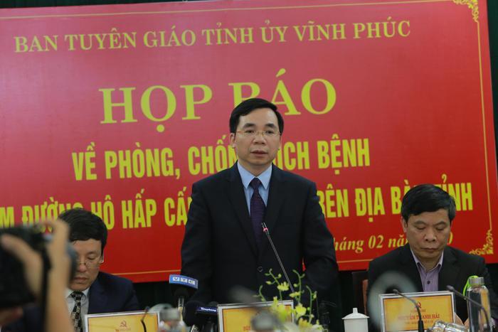 Ông Bùi Huy Vĩnh, Trưởng Ban Tuyên giáo Tỉnh ủy Vĩnh Phúc