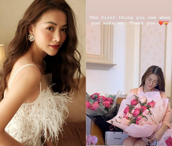 """Miss Earth Phương Khánh nhận """"núi hoa"""" từ fan, bạn bè và em trai. Người đẹp cho biết đây là niềm hạnh phúc đầu ngày cô nhận được sau 1 giấc ngủ say."""