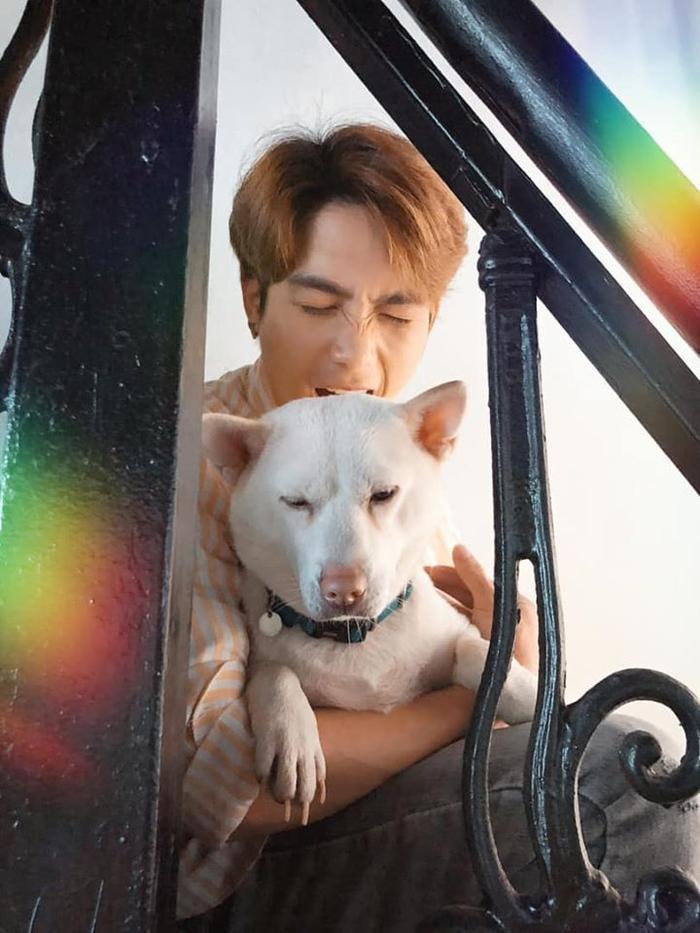 Young Anh và chú chó.