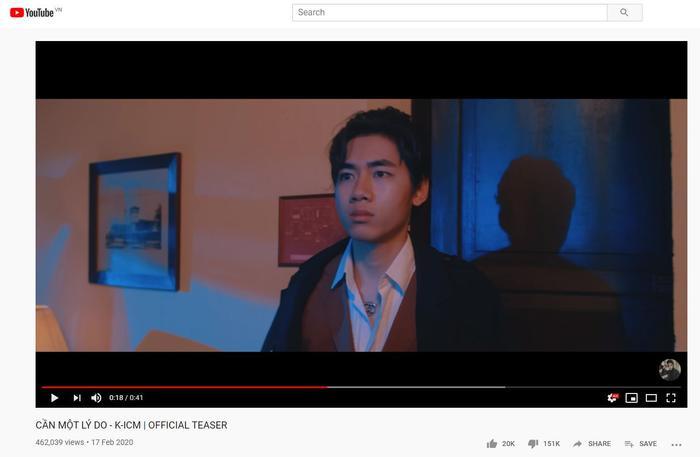 Cần một lý do của K-ICM liệu có vượt qua Hoa vô sắc, trở thành MV có lượng dislike nhiều nhất Việt Nam? ảnh 2