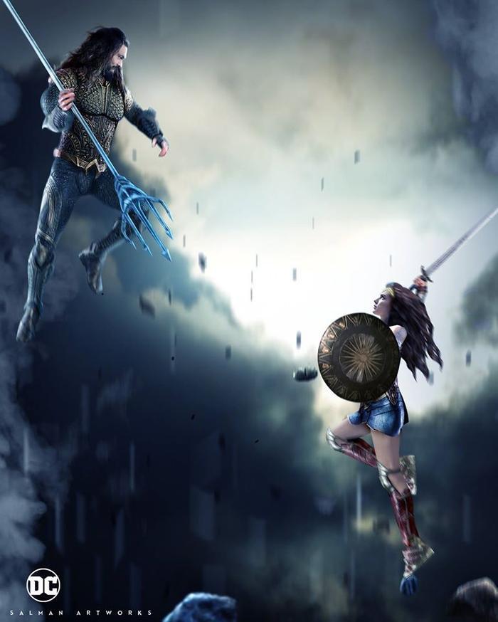 """Aquaman và Wonder Woman sẽ """"quật"""" nhau trong The Flash 2022?"""