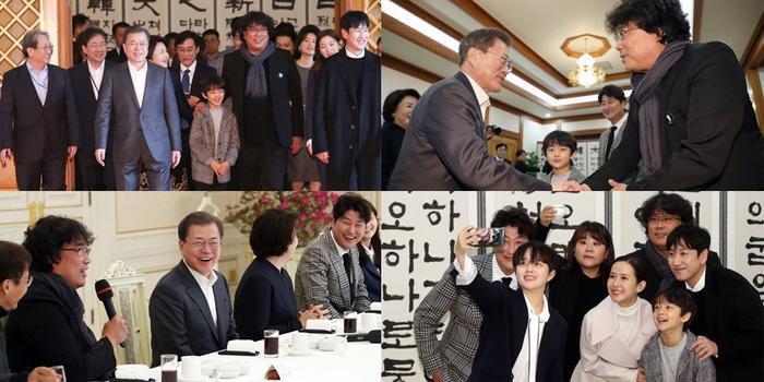 Sau chiến thắng Oscar, đoàn phim Parasite nhận lời mời tham dự bữa trưa đặc biệt cùng tổng thống Hàn Quốc Moon Jae In ảnh 5