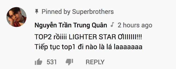 Nguyễn Trần Trung Quân kêu gọi fan cày lên top 1 cho MV.