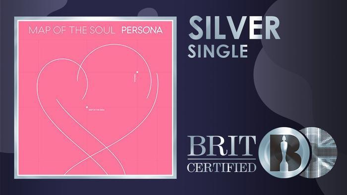 Chứng nhận Bạc đã chính thức được trao cho Boy With Luv – BTS bởi BRIT Awards.