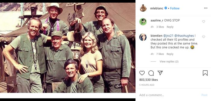Matt LeBlanc là người duy nhất với tấm hình khác các thành viên còn lại