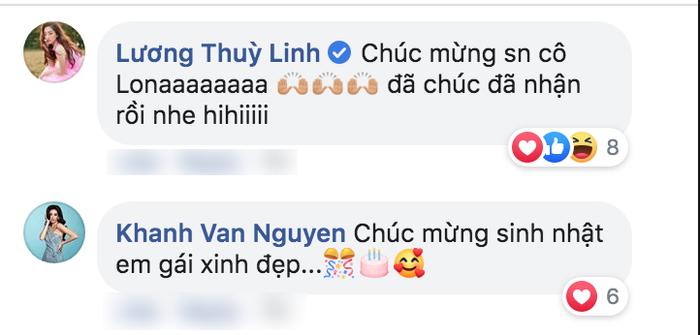 Miss World Vietnam 2019 và Miss Universe Vietnam 2019 cùng gửi lời chúc sinh thần đến á hậu Kiều Loan.