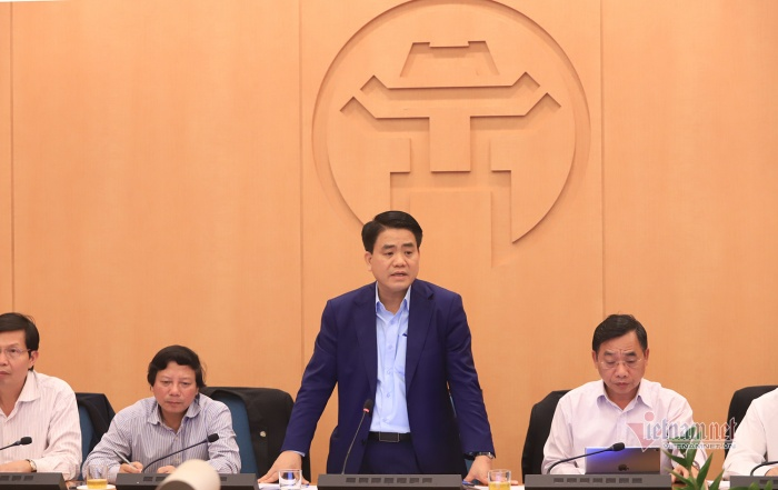 Ông Nguyễn Đức Chung phát biểu tại cuộc họp. Ảnh: báo Vietnamnet