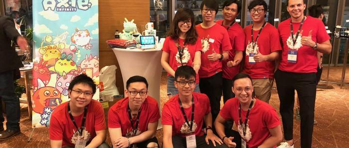 Đội ngũ phát triển Axie Infinity trong sự kiện 500 Startups Demo Day. (Ảnh: Kr-ASIA)