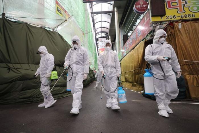 Hàn Quốc đang được xem là ổ dịch nCoV lớn thứ hai thế giới. (Ảnh: AFP)