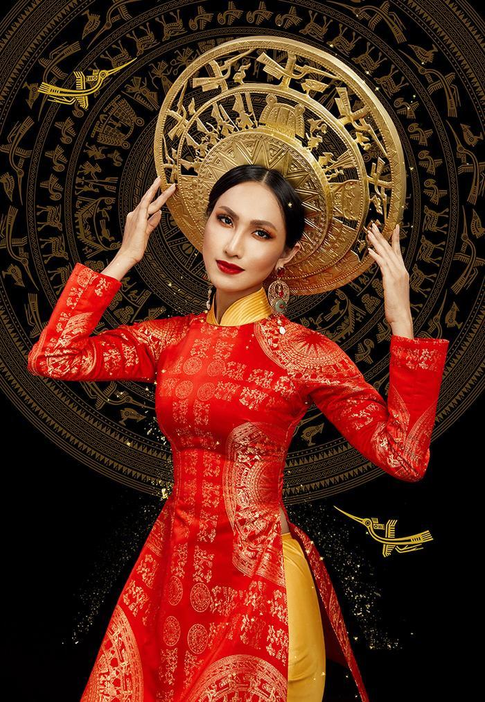 Cận cảnh trang phục dân tộc Bà Triệu của Hoài Sa tại Miss International Queen 2020 ảnh 6