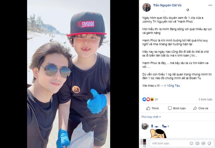 Chụp ảnh cùng con trai, Tim hi vọng ngày 'đoàn tụ' cùng Trương Quỳnh Anh sẽ đến thật gần
