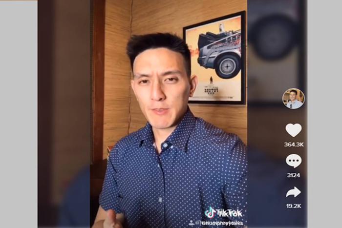 TikToker Humphrey Yang, người đang cóđến260.000 người theo dõi và 1,5 triệu lượt xem video trên TikTok. (Ảnh:Humphrey Yang)