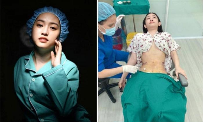 Thúy Vi tiếp tục phẫu thuật thẩm mỹ hút mỡ bụng mặc kệ lời tuyên bố lúc trước rằng sẽ không lạm dụng dao kéo.