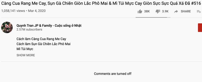 """Để tránh """"bão dư luận"""" và bình luận tiêu cực của nhiều người, Quỳnh Trần JP đã quyết định tắt chức năng bình luận dưới các sản phẩm của mình"""