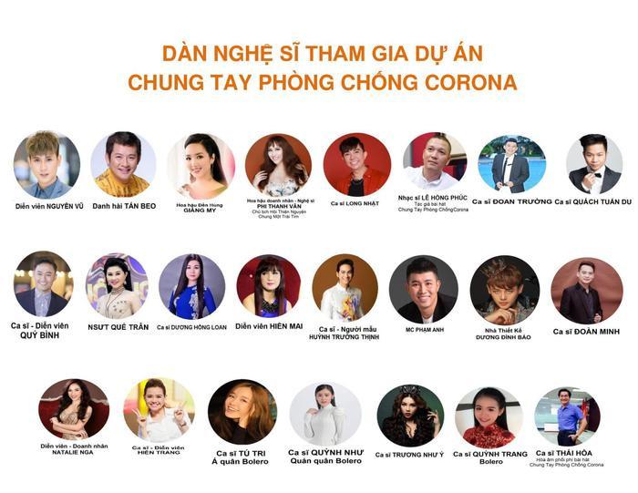 Phi Thanh Vân phát động dự án chống dịch Covid-19 với sự tham gia của hơn 20 nghệ sĩ