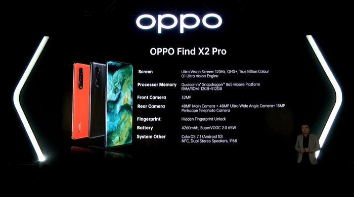 Find X2 trang bị vi xử lý Snapdragon 865, 12GB RAM LPDDR5, 256GB và hỗ trợ 5G. (Ảnh: Teknoratz)