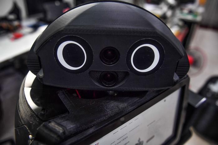 Sở dĩ những chú robot này được gọi là ninja vì có màu sắc chủ đạo là đen. (Ảnh: Lillian SUWANRUMPHA / AFP)