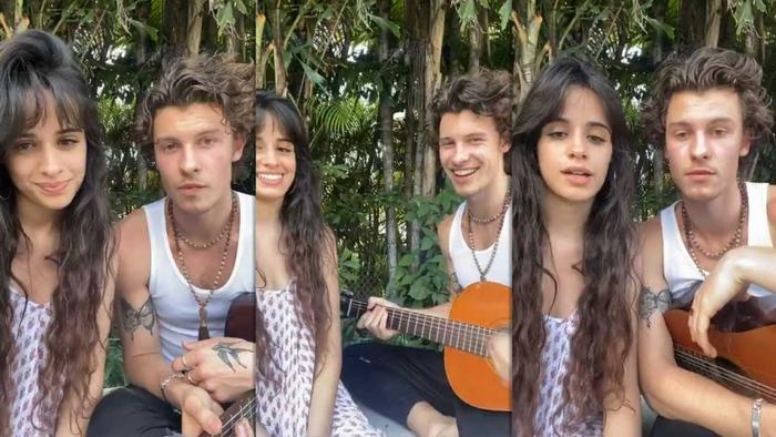 Một số hình ảnh trong buổi concert tại gia của Camila Cabello và Shawn Mendes.