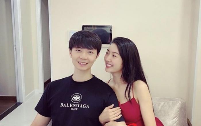 Thúy Vân và người đàn ông được cho là chồng tương lai của cô.