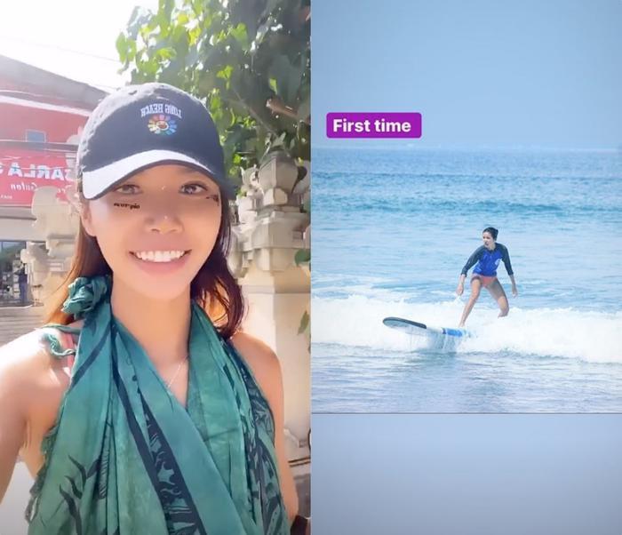 Siêu mẫu Minh Tú tiếp tục tận hưởng chuyến đi du lịch và giữ kín địa điểm khiến fan tò mò.
