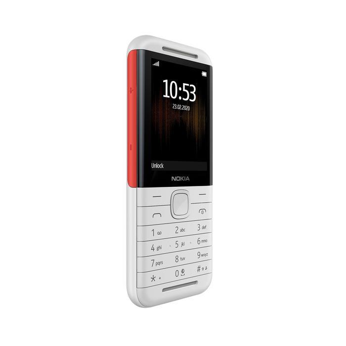 Nokia 5310 mang thiết kế cổ điển với một đường viền hai tông màu.
