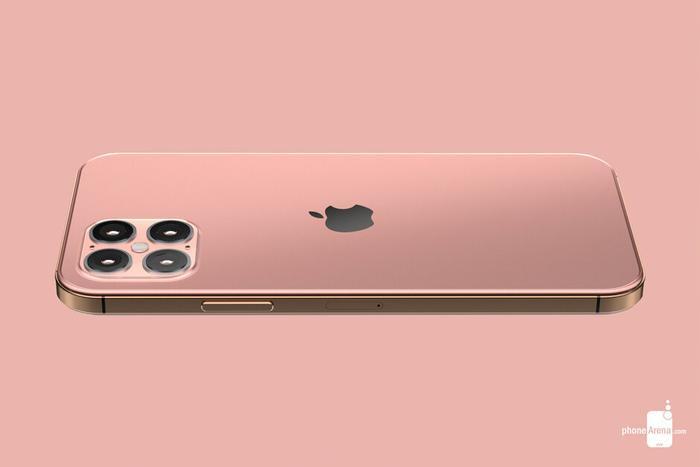 Ảnh dựng iPhone12 Pro dựa trên tin đồn. (Ảnh: Phonearea)