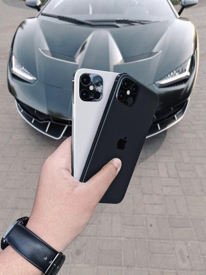 """iPhone 12 với cụm 4 camera """"siêu to khổng lồ"""" sẽ sang chảnh như thế này đây! (Ảnh:Benjamin Geskin)"""