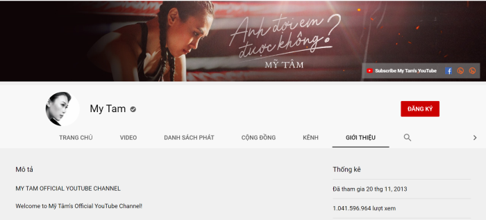 Kênh Youtube Mỹ Tâm lộ lượng đăng ký khủng, hot như Sơn Tùng M-TP cũng phải cúi đầu chào thua ảnh 1