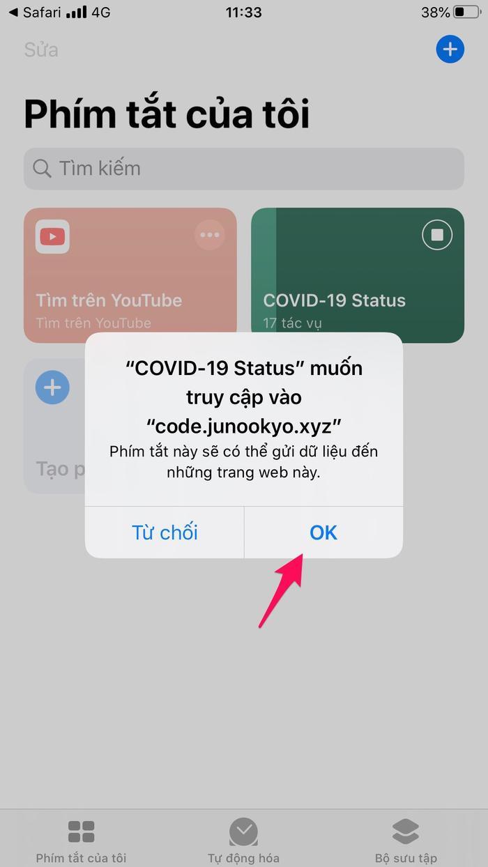 """Sau khi tải phím tắt về xong, hãy kích hoạt nó nên trong phần phím tắt. Tại đây, phím tắt sẽ hiện lên tác giả và nguồn dữ liệu cập nhật tình hình. Bạn chỉ cần nhấn """"OK"""" là được."""