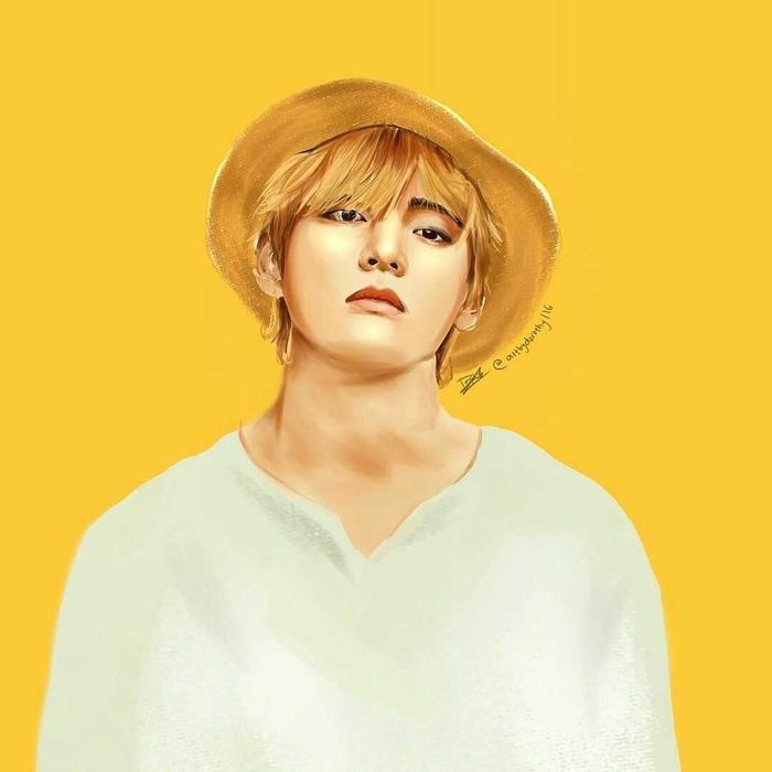 V (BTS) muốn fans làm cô giáo dạy vẽ của mình! ảnh 0
