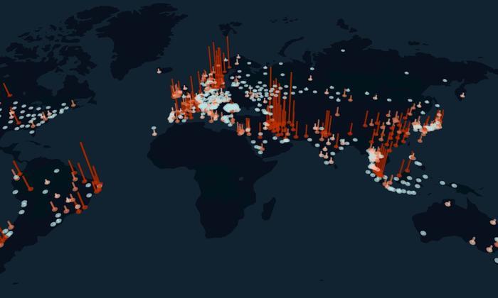Lưu lượng sử dụng Internet trên toàn cầu tăng mạnh kể từ khi dịch bệnh Covid-19 bùng phát. (Ảnh: KASPR Datahaus)