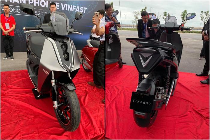 Một số hình ảnh của chiếc xe máy điện VinFast có tên V9 bị rò rỉ trên mạng xã hội trước đó. (Ảnh: Facebook)