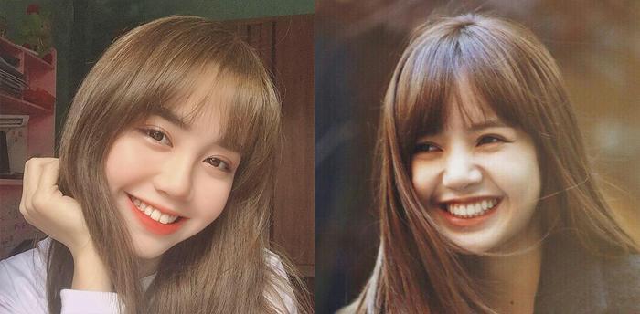 Cả hai đều sở hữu gương mặt bầu bĩnh, tóc mái bằng lơ thơ, khuôn miệng rộng, đôi mắt đặc trưng và nụ cười lôi cuốn.