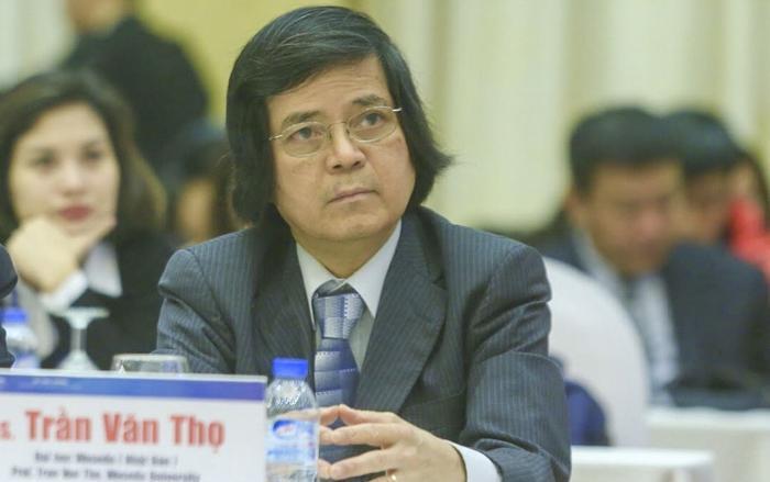 Giáo sư Trần Văn Thọ trong một lần tham dự Diễn đàn doanh nghiệp Việt Nam tại Hà Nội. (Ảnh: I.T)