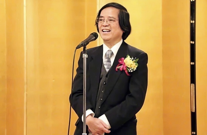 GS Trần Văn Thọ trong buổi lễ chia tay Đại học Waseda, Nhật Bản. (Ảnh: Internet)